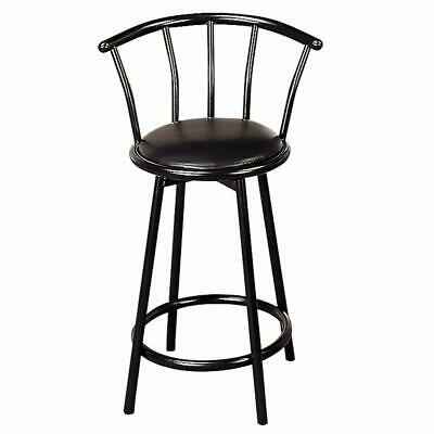Metal Casual Counter Height Stool, Black, Set of 2