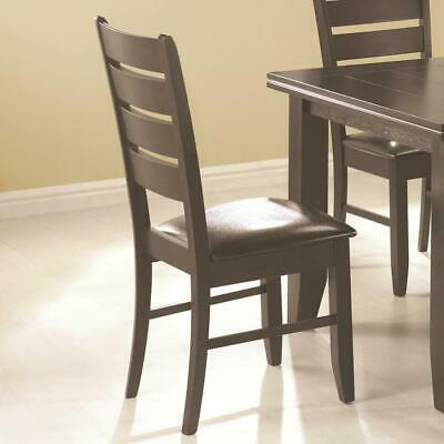 Wooden Dining Side Chair, Cappuccino Brown, Set of 2