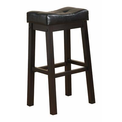 Wooden Sofie Backless Counter Height Stool, Black, Set of 2
