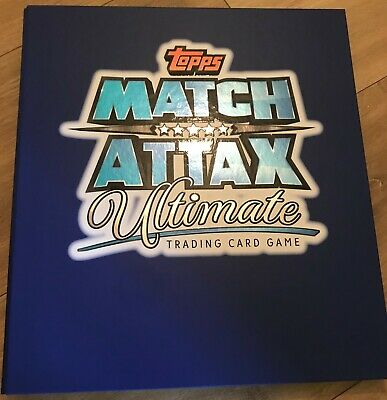 Match Attax Ultimate 18/19 Full Set all 160 Cards in Original Binder + checklist