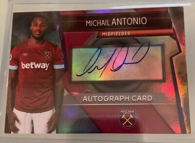 Match Attax Ultimate 2018/19 Rare Autograph Card Michail Antonio West Ham