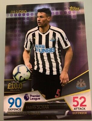Match Attax Ultimate Rare 012/050 Purple Parallel Card Fabian Schar Newcastle