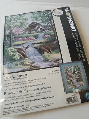 Dimensions Counted Cross Stitch Kit Peaceful Stream 35027 by George Bjorkland