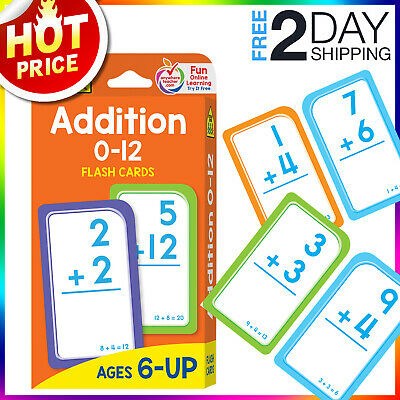 Addition Flash CardsMath Preschool Early Learning Math Games for Kids Toddlers