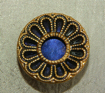 Antique Button Blue Tinted Twinkle #715-B