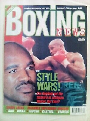 Boxing News 7 Nov  1997 - Vintage - Holyfield /Moorer - Near Mint Condition