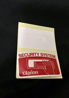 Vintage Clarion Security Car Window Stickers (Rare)