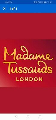 Madame Tussauds LONDON X 4 TICKETS Sunday 29th March 1445 1515 family