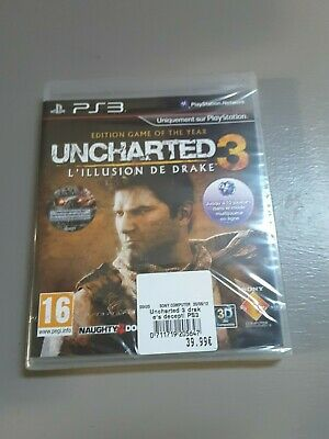Uncharted 3 illusion Drake Edition GOTY PS3 -Neuf blister officiel -Envoi Offert