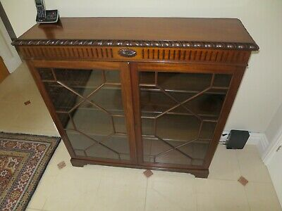 Lovely Edwardian Bookcase With Astral Glazed Doors