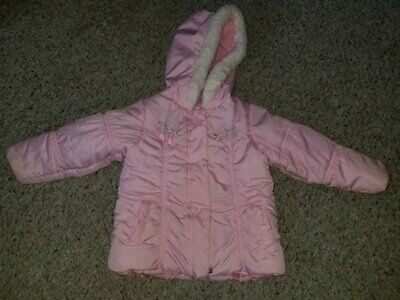 LONDON FOG Pink Hooded Quilted Winter Parka Girls Size 3T