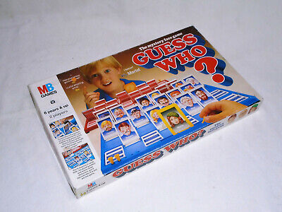 GUESS WHO ? - RARE 1980 VINTAGE EDITION - By MB GAMES (FREE UK P&P)