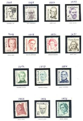 US SC # 1844 thru 1869 GREAT AMERICANS ISSUE COMPLETE SET OF 26 STAMPS MNH