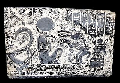 Ancient Egyptian Civilization Ibis Thoth God Of Knowledge & Baboon Plaque Stela