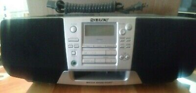 Sony CFD-S28 BoomBox Mega Bass Portable Radio Cassette CD Player W/ Power Cable