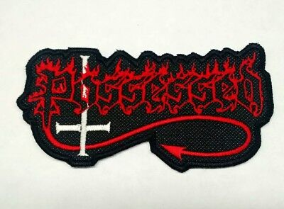 Possessed Patch Iron/Sew-on Embroidered Metal Fast Shipping
