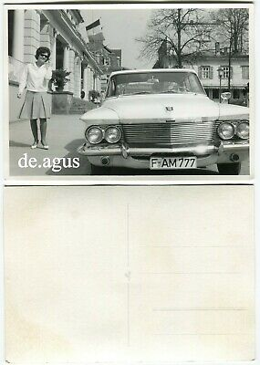 Vintage Photo 1960s beautiful young Woman with Sunglasses,Amazing view from car