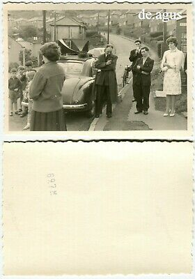 Vintage Photo circa 1960s People,Children,Classic Car