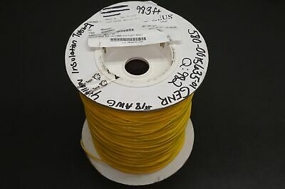 M22129-17-N Zeus PTFE Insulating Tubing Extruded 18AWG Yellow 982' Spool PARTIAL