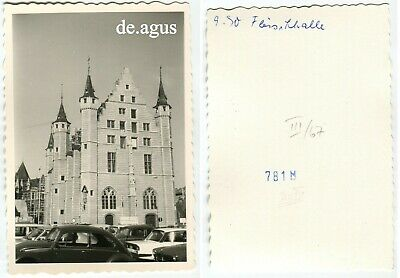 Vintage Photo circa 1960s Architecture,Cars,vw beetle bug volkswagen