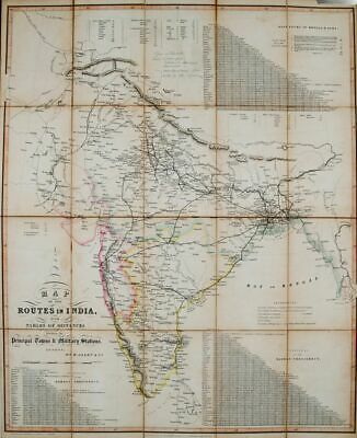 W Allen / MAP OF THE ROUTES IN INDIA 1841 1841
