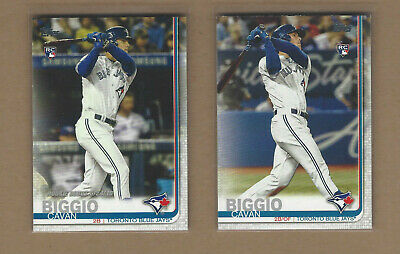 CAVAN BIGGIO 2019 Topps Update Rookie Card Lot Of 2 Different Toronto Blue Jays
