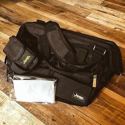 Jeep Baby Travel Diaper Bag Duffle Tote Overnight Black Bag w Shoulder Strap