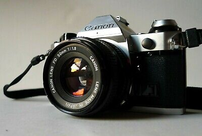 Canon AE-1 Program Camera  with FD 50mm f1.8 Lens - Great Condition!