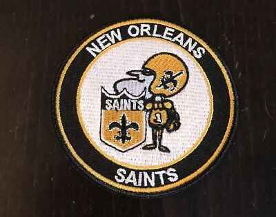 """NEW ORLEANS SAINTS Vintage Iron on Embroidered Patch 3"""" X 3"""""""