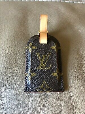 Authentic Louis Vuitton Logo Leather Luggage Suitcase Tag BRAND NEW!!!