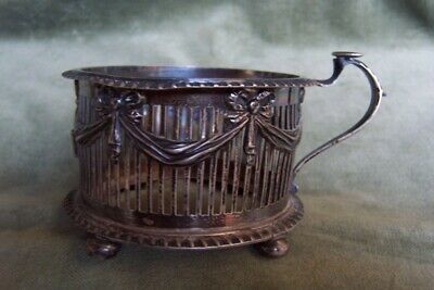 Antique STERLING- Tea Cup holder-London 1901-w.hutton&sons-elegant &beautiful