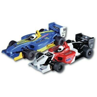 NEW AFX Mega G+ Formula 1 F1 HO Slot Car TWO PACK 22017 - FREE SHIPPING