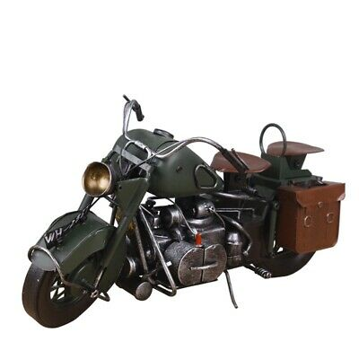 Vintage Distressed Antique Vintage Classic Motorcycle Handmade Craft Model A5W2