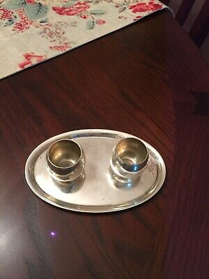 (2) Tiffany & Co Baby Cup Gift Silver Makers Sterling 25005 and Sterling Tray