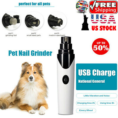 Electric Clipper Dog Paws Nail Trimmer Grinder Grooming Tool For Pet Dog Cat