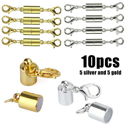 10Pcs Magnetic Lobster Clasp Hook for Bracelet Necklace Jewelry Secure Extender