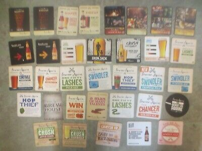 34 different JAMES SQUIRE Brewery, Issue,New South Wales BEER COASTERS