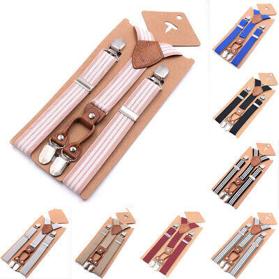 Adjustable NEW Cute Kids Child Boys Girls Suspenders Braces  Baby Straps AU