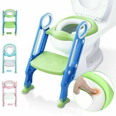 Child Toddler Toilet Chair Kid Potty Training Seat with Step Stool Ladder