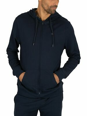 Tommy Hilfiger Men's Lounge Zip Logo Hoodie, Blue