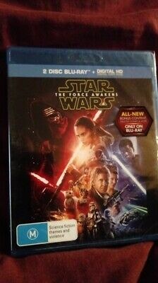 Star Wars The Force Awakens 2 Disc Blu ray Region FREE   NEW  AND SEALED
