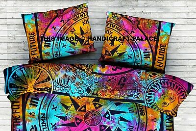 Indian Cycle Of The Cotton Cushion Pillow Sham Throw Ages Tie Dye Pillow Cover