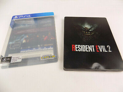 Mint Disc Playstation 4 Ps4 Rare Resident Evil 2 II RE 2 Steelbook Edition
