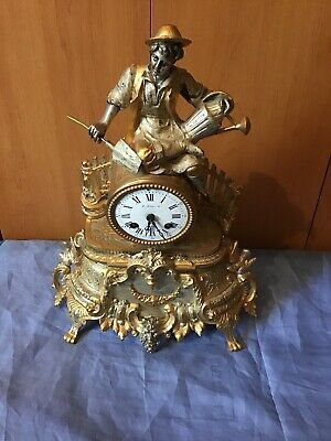 A Decorative French Antique Chiming Mantel Clock