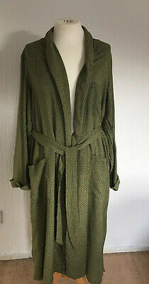 Robertson And Son Travel Gown Vintage Paisley Dressing Gown Large Green