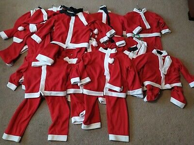 Joblot 15 boys santa Claus father Christmas Fancy Dress Costume Wholesale outfit