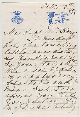 Princess Mary Adelaide Signed Letter - Mother Of Queen Mary