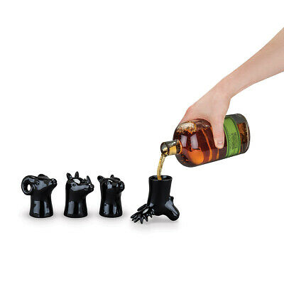 Rugged Foster & Rye Animal Head Shot Glasses Novelty Drinking Wild Pot CUp