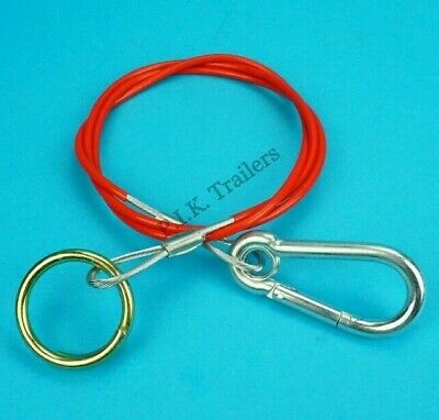 QUALITY Breakaway Cable with Split Ring for Trailer Caravan Horse Box