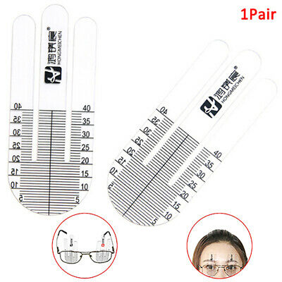 2Pcs Special Optical PD Ruler Pupil Height Meter Eye Ophthalmic Tool for Glas VB